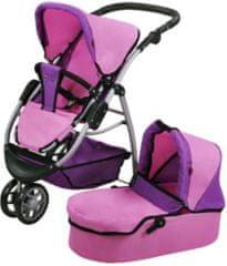 Knorrtoys Kombinovaný kočárek pro panenky CICO Pink purple