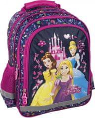 Derform Školní batoh Disney Princess ergonomický 38cm modrý