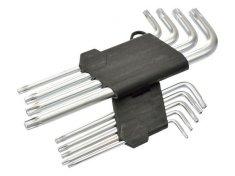 GEKO L-klíče TORX, sada 9ks, T10-T50, 190mm