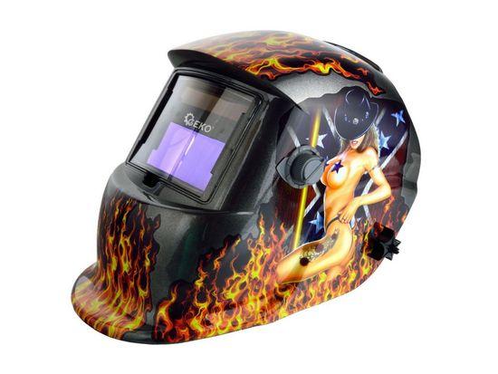 GEKO Svářecí kukla samostmívací s plameny