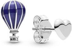Pandora Asimetrični srebrni uhani Leteči ljubimec 298058EN195 srebro 925/1000