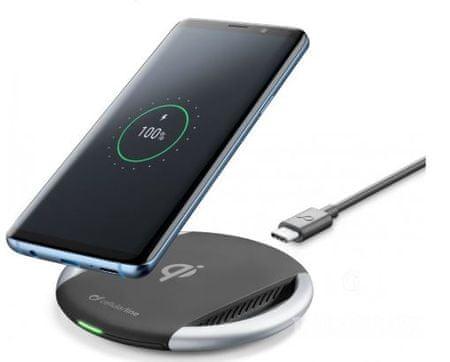 CellularLine Bezdrátová nabíječka Wireless Fast Charger, černá, WIRELESSPAD10WTYCK