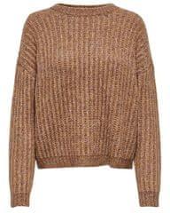 ONLY Dámsky sveter ONLCHUNKY L / S Pullover KNT Camel