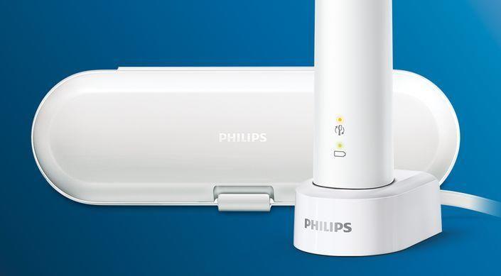 Philips Sonicare HX6809/35 ProtectiveClean White 1 + 1 potovalna torbica