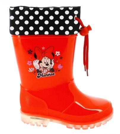 Disney by Arnetta świecące kalosze dziewczęce Minnie 23 czerwony