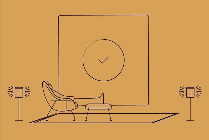 sonos One SL přenosný reproduktor wifi airplay 2 apple streaming hudby bez mikrofonu multiroom zvuk do každého pokoje odolný vlhkosti používání i v koupelně stereofonní zvuk po spojení dvou reproduktorů dva digitální zesilovače třídy D výškový reproduktor basový reproduktor nastavitelné basy a výšky automatická aktualizace software