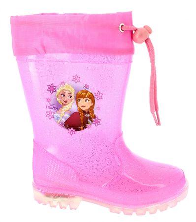Disney by Arnetta dievčenské svietiace gumáky Frozen 24 ružové