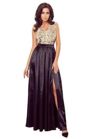 Numoco Dámske šaty 256-4, čierna, S