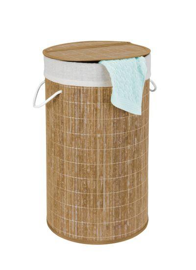 Wenko BAMBOO - Koš na prádlo organizér, béžová