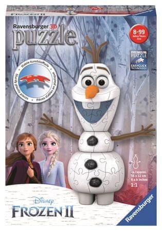 Ravensburger Puzzle 3D 111572 Disney Kraina Lodu 2 Olaf 3D 54 elementów