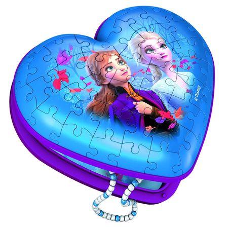 Ravensburger 3D Puzzle kirakós játék 112364 Disney Jégvarázs 2 Szív 54 darab