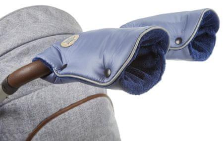 Little Angel rukavice na kočár Mazlík ocelově modrá/modrá