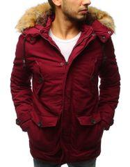 BUĎCHLAP Fantastická bordová bunda na zimu