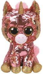 TY Beanie Boos Flippables Sunset - růžový jednorožec 24 cm s otočnými flitry
