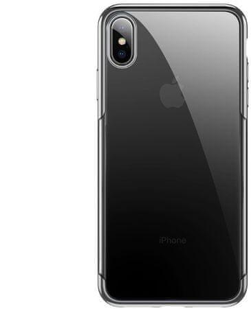 BASEUS Shining Series zaščitni ovitek za iPhone X/XS, srebrn, ARAPIPH58-MD0S