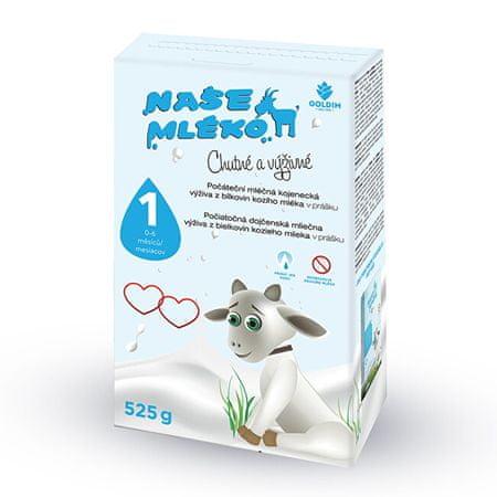Naše méko - 1 počát. výživa z kozího mléka 0-6m 525 g