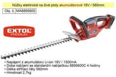 Extol Premium Aku nůžky na živé ploty 18 V / 1500 Ah Li-On Extol Premium 8895440