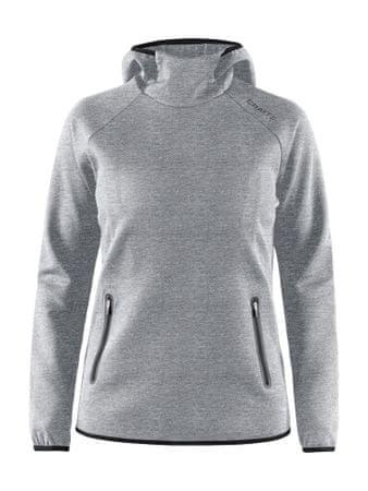 Craft Emotion Hood Sweatshirt W ženski pulover Grey Melange, XS, siv