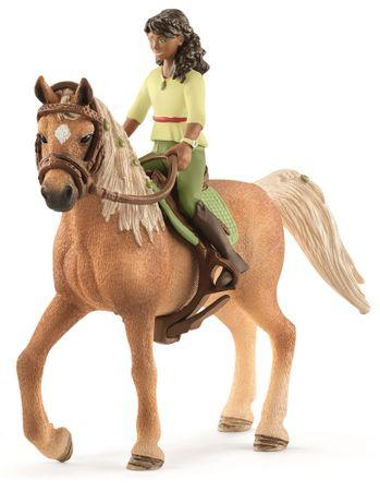 Schleich Črnolaska Sara in konj Mystery