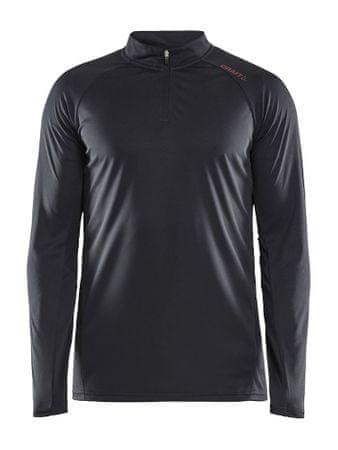 Craft Eaze LS Half zip Tee M moški pulover Black, S, črn
