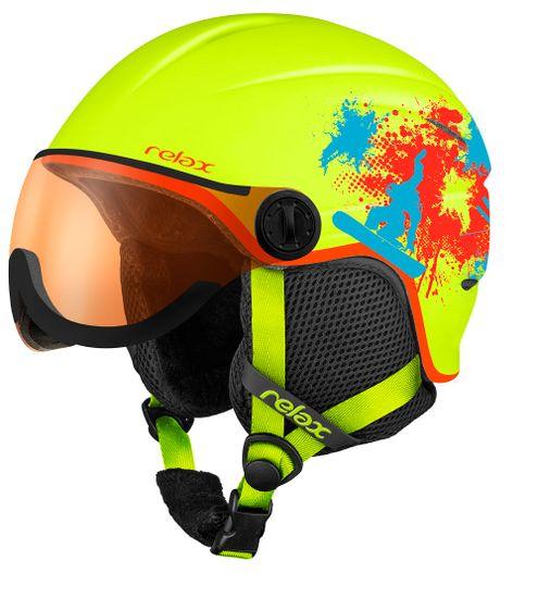 Relax Detská - Junior Lyžiarska helma Twister Visor RH27B XS (49-52 cm)