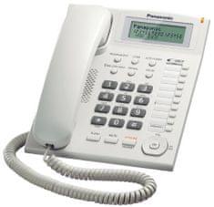 Panasonic KX-TS880FXW Panasonic - jednolinkový telefon, displej, CLIP, konektor pro n.s. 2,5mm, speakerphone, barva bílá
