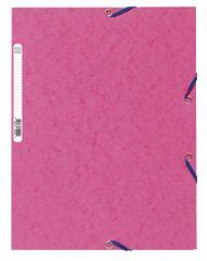 Desky se 3 klopami prešpán s gumičkou růžové