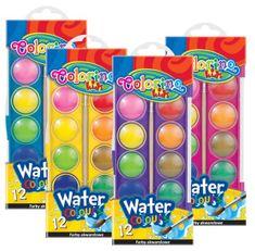 Barvy vodové Colorino malé 12 barev (pastelový barevník)