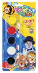 Barvy obličejové Colorino vodové 5 barev
