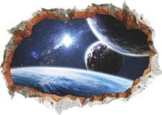 Zooyoo Samolepka na zeď 3D Vesmír 70 x 50 cm
