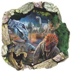 Zooyoo Samolepka na zeď Dinosauři Jurský park 3D 50 x 50 cm 4