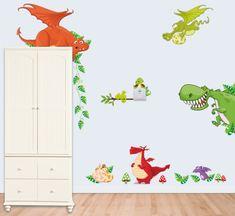 Zooyoo Samolepka na zeď Dinosauři a Draci 30 x 90 cm