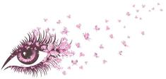 Zooyoo Samolepka na zeď Motýlci oko 65 X 135 CM