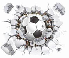 Zooyoo Samolepka na zeď Fotbalový míč 3D 40 x 50 cm