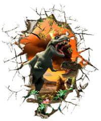 Zooyoo Samolepka na zeď Dinosauři Jurský park 3D 50 x 50 cm 1