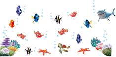 Zooyoo Samolepka na zeď Nemo Dory a přátelé 60 x 130 cm