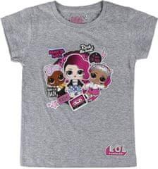 Cerda Dětské tričko L.O.L. Surprise Rock šedé Velikost: 104/111 (4-5 let)