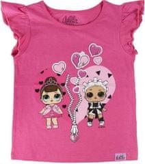 Cerda Dětské tričko L.O.L. Surprise Heart bavlna fialové Velikost: 104/111 (4-5 let)