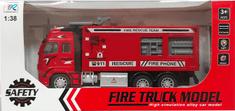 DINOTRADING Požární auto hasiči na setrvačník kovové II 1:38