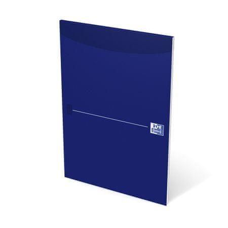Blok poznámkový lepený Oxford Original blue A4 čistý, 50 listů