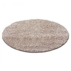 Ayyildiz AKCE: 120x120 cm Kusový koberec Dream Shaggy 4000 beige kruh