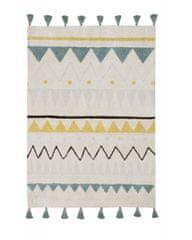 Lorena Canals Ručne tkaný kusový koberec Azteca Natural-Vintage Blue