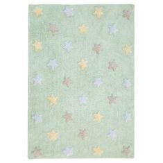 Lorena Canals Ručně tkaný kusový koberec Tricolor Stars Soft Mint