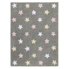 Lorena Canals Ručně tkaný kusový koberec Tricolor Stars Grey-Pink