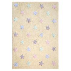 Lorena Canals Ručně tkaný kusový koberec Tricolor Stars Vanilla