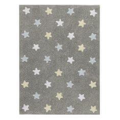 Lorena Canals Ručně tkaný kusový koberec Tricolor Stars Grey-Blue