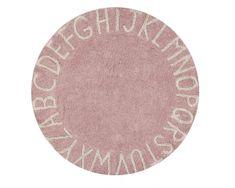 Lorena Canals Ručně tkaný kusový koberec Round ABC Vintage Nude-Natural