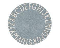 Lorena Canals Ručně tkaný kusový koberec Round ABC Vintage Blue-Natural