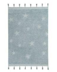 Lorena Canals Ručně tkaný kusový koberec Hippy Stars Aqua Blue