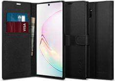 Spigen Wallet S preklopna maska za Samsung Galaxy Note 10 Plus, crna